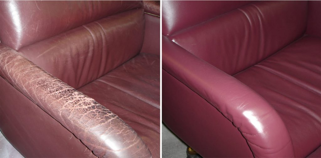Перетяжка мебели кожзамом