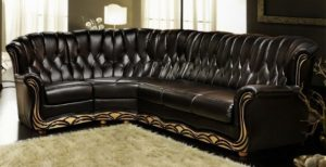 Обивка углового дивана в Студии Диванов (Москва)